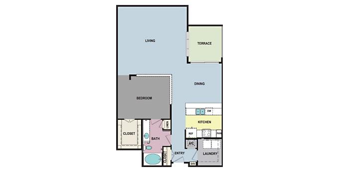 1br Towson Promenade Apartment Community Model: Plan F (A1I) Ph. 866-487-5709