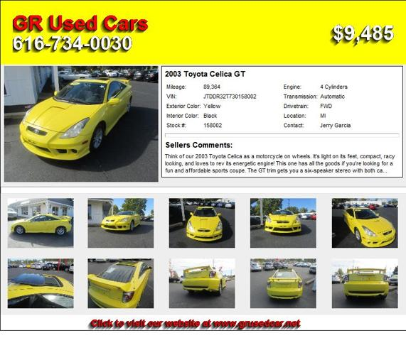 2003 Toyota Celica GT - Look No Further