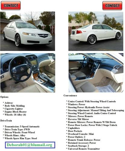 2004 Acura TL Navy Sys @@@@ For Sale In Los Angeles