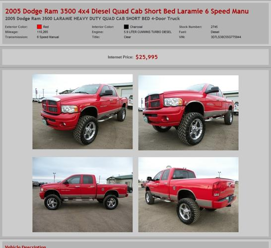2005 Dodge Ram 3500 4X4 Diesel Quad Cab Short Bed Laramie