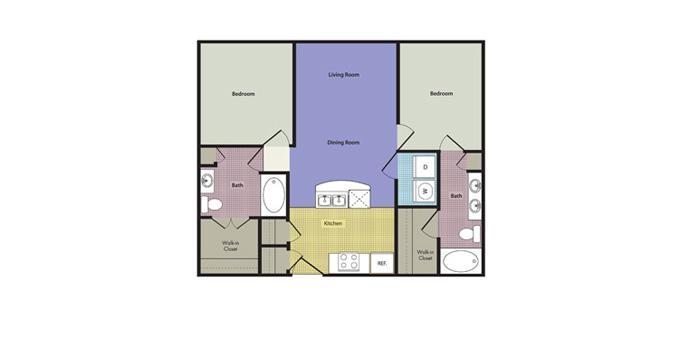2br Legacy Village Apartment Homes Apartment Community Model: Altamura at Lakeside Ph. (866) 659-3583