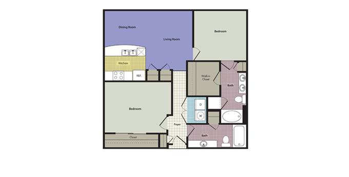 2br Legacy Village Apartment Homes Apartment Community Model: Capri at Acqua Ph. (866) 659-3583