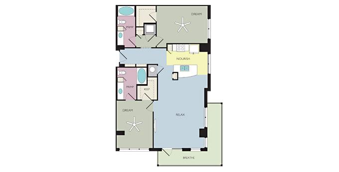 2br Savoye Apartment Community Model: Seek (B2H) Brand New Ph. 866-443-1761