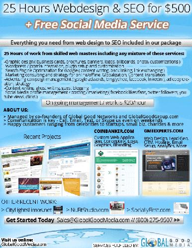 ???? $500 Website deal + Free SEO