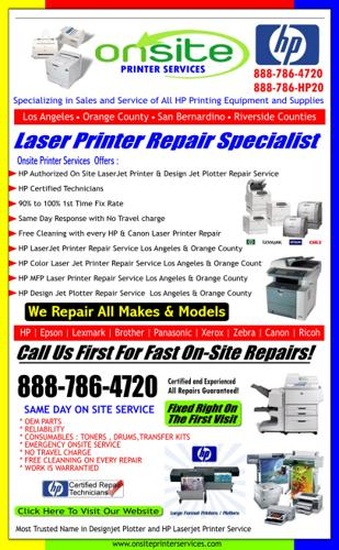 888-786-4720 HP Brother Canon Lexmark PrinterRepair - Los Angeles County , CA
