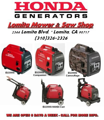 Super Quiet Honda Generators Eu2000i For Sale In Los