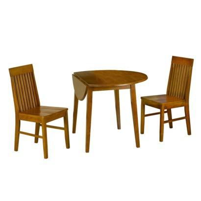 Dining table set drop leaf table and 2 mission style for Best deals on dining tables and chairs