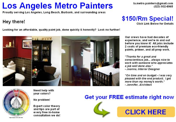 ► LA Metro Painter - Fast, Affordable Painting - $150 SPECIAL!f