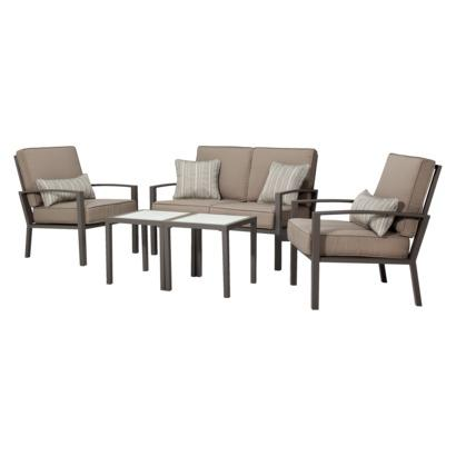 patio set home lagos 5 piece metal patio furniture set
