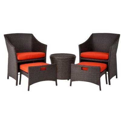 Patio set home loft 5 piece wicker patio furniture set for Best deals on patio furniture sets