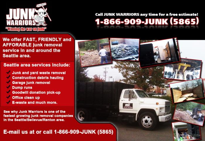 ☛ SEATTLE HAULING Junk/ Garbage/ Trash Removal Lowest Rates - Call Now & Save!