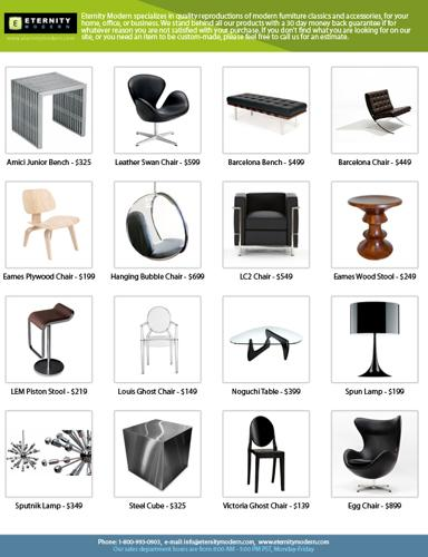 Barcelona, Mies, and Corbusier Midcentury furniture