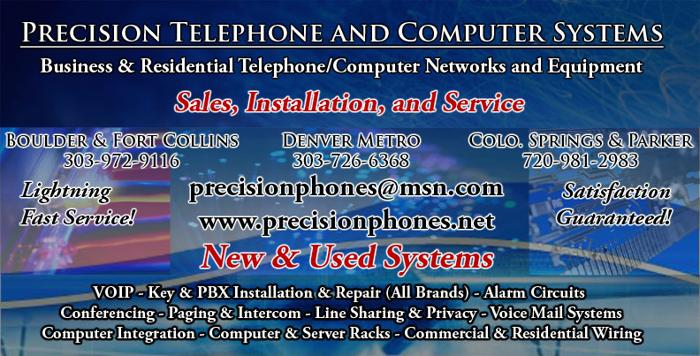 Best computer. Installation. & repairs. Boulder co.Cabling cat 6e. Paging systems. Pos. Waps. Phones