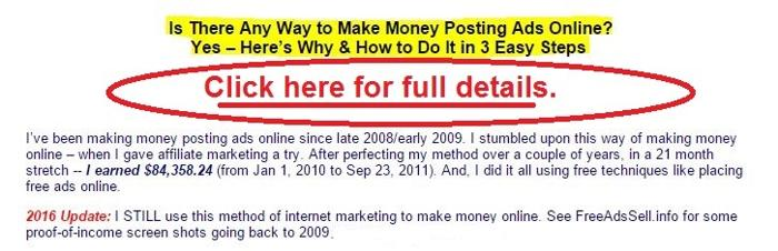 Can You Make Money Posting Free Ads? Yes ? And Here?s How to Do It in 3 Easy Steps