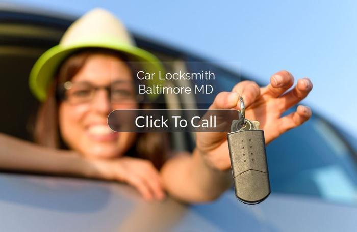 Car Door Unlocking Service Baltimore - Auto locksmith Baltimore - Car Locksmith in Baltimore