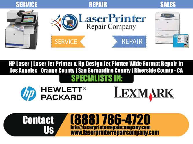 CITY OF INDUSTRY - CA <<<< hp Designjet Plotter Repair - Services