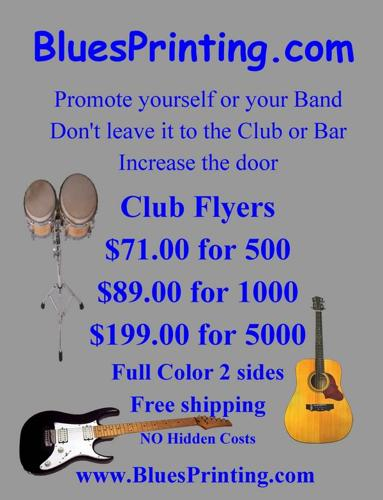 Club Flyers only $69.99 for 1000! Free Shipping!!