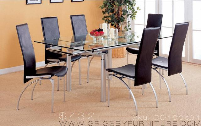 CO100s01 7 Piece Extension Table Set