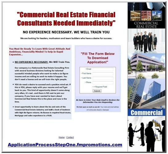 COMMERCIAL REAL ESTATE FINANCIAL CONSULTANT Needed Immediately No Experience Necessary Will Train nP
