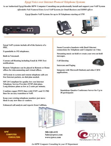 Epygi Telephone System, Sales & Service