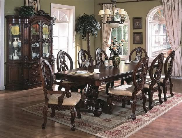 Formal dining tables huge selection on sale at warehouse for Formal dining room chairs for sale