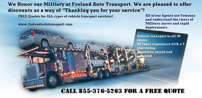 Free Quote Military Discount Auto Transport, Why Pay More??
