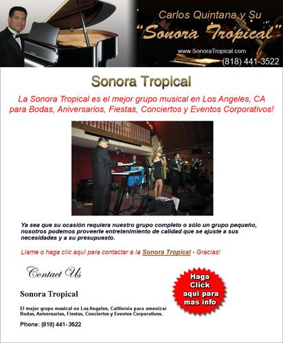 GRUPO MUSICAL en Los Angeles - La Sonora Tropical