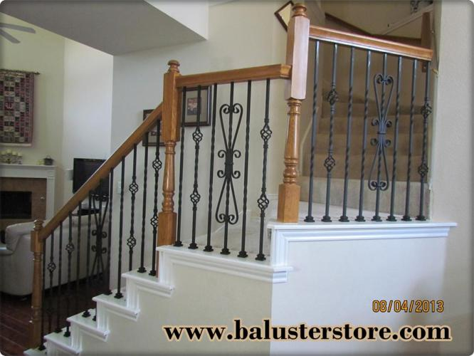 High quality iron balusters for stairs railing iron stair parts iron spindles