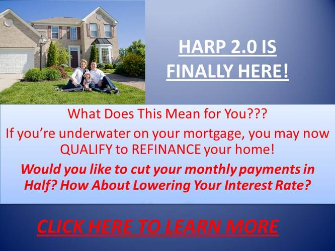 Home Affordable Refinance Program Harp 2 0 For Sale In