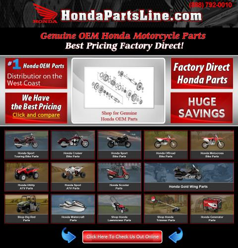 Honda CRF50F, CRF70F, CRF80F, CRF100F OEM Parts Sale ( 35% OFF )
