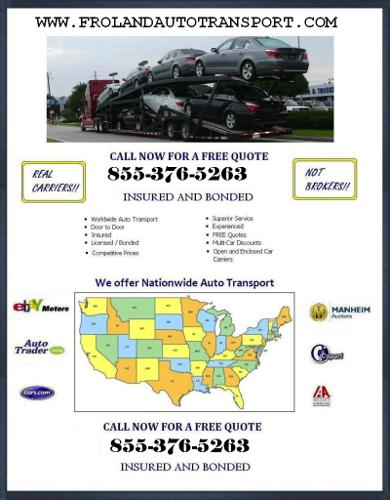 Licensed, Bonded, and Insured Auto Transport Service