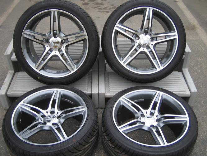Mercedes benz wheels rims tires package c e clk slk sl s for Rims and tires for mercedes benz
