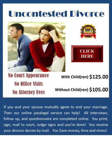 Online Divorce, No Court Appearance, WA State Only