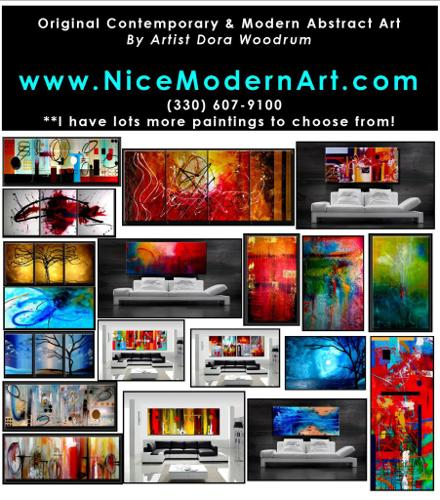 Original Contemporary Abstract Art Paintings - Very Nice Selection of Art!