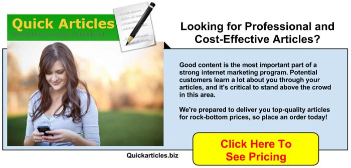 Online article writing service