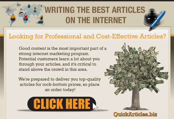 ... writing style, starting an article writing service is an ideal