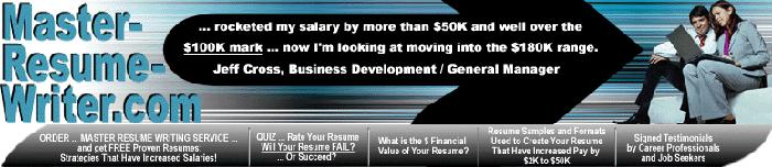 Resume Service for CEO/ President/ VP Executives -Doubled Salaries Over the $100K Mark