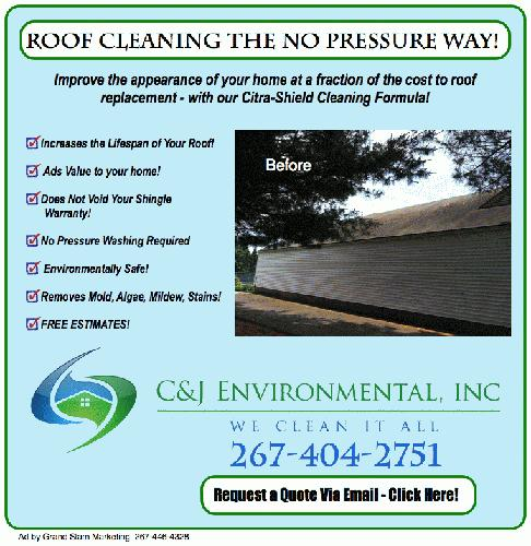 Roof Cleaning - No Power Washing needed - Allentown, Quakertown, Coopersburg