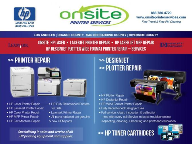 Santa Monica - Ca <<<< HP Designjet Plotter Wide Format Printer Repair / Services