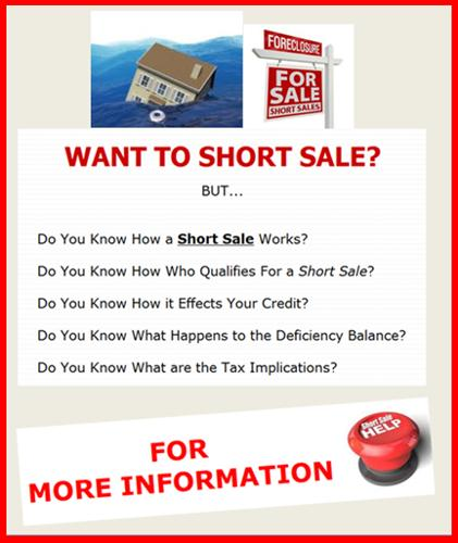 Short sale vs foreclosure free report to download for for Short sale websites for realtors