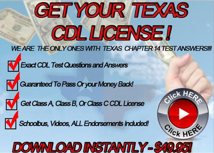 Texas Cdl Test Answers For Sale In Lubbock Texas