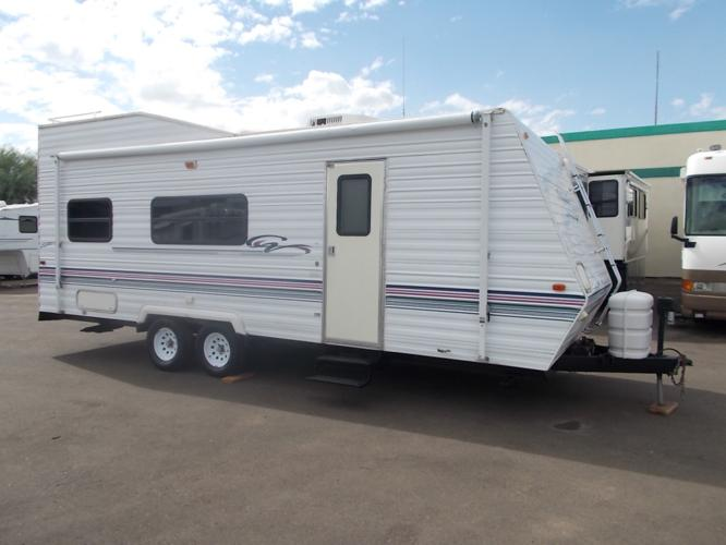 Toy hauler forest river california wildwood 27 ft sleeps 4 for sale in