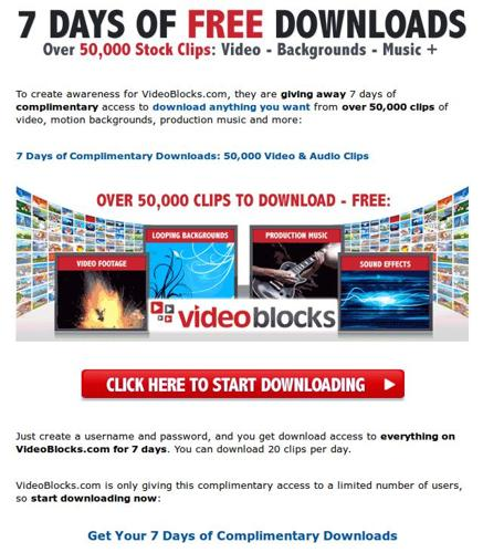 Video Producers: Download over 50,000 clips for Free!