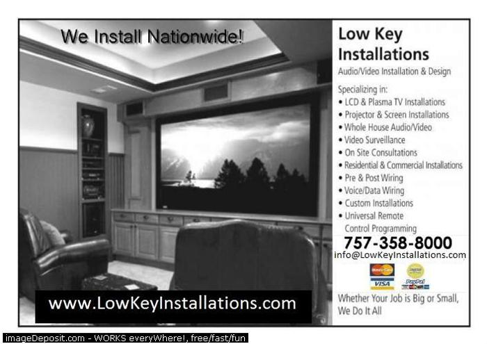 ===> We Install Flat TV's & Home Theater Systems <=== 757-358-8000
