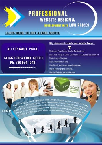 ??? web design Chicago **Low cost ** affordable website design & development