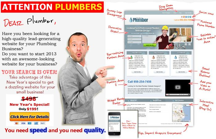 Web Design For Plumbers Cheap - Only $199! Roanoke, VA