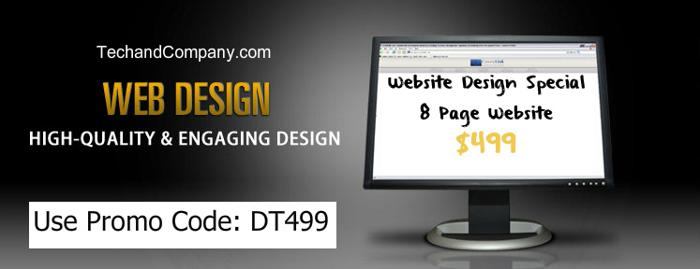 Website Design Special $499!